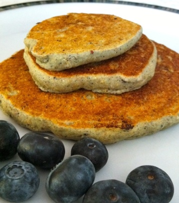 Tasty blueberry pancakes