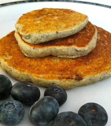 Tasty blueberry pancakes